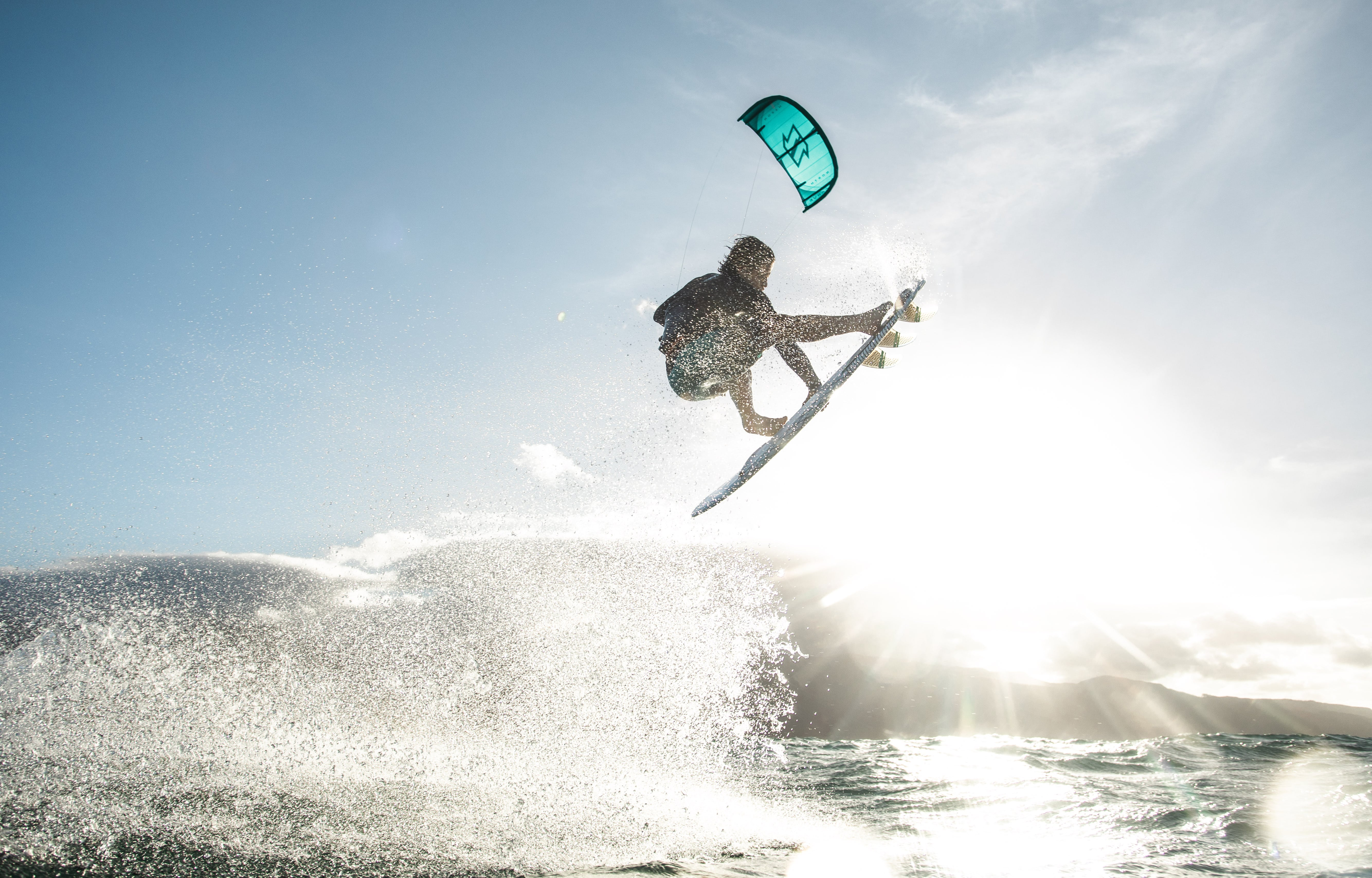 Jesse Richman kiting with North Carve kite